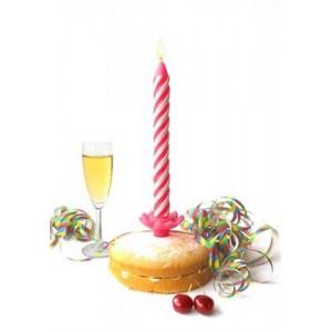 Bougie anniversaire XL Manta design